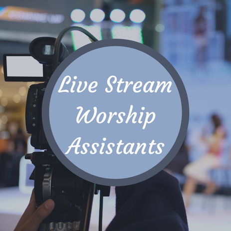 Live Stream Worship Assistants Sign Up Sheet